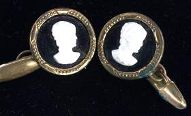 Vintage Victorian Cameo Cuff links