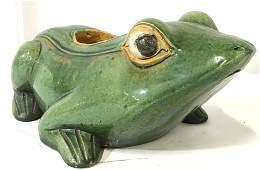 Pair ALEXANDERS Vintage Signed Frog Statues
