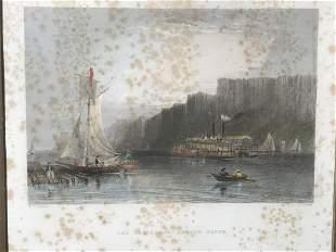 W.H.BARLETT Steel Engraving Hudson River