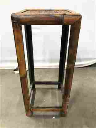 Vintage Bamboo Style Side Table