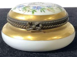 FRENCH SEVRES 'Happiness' Porcelain Pill Box