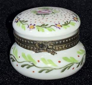 FRENCH SEVRES HAND PAINTED Snuff Pill Box