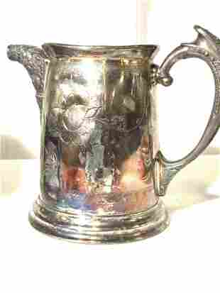 NEW AMSTERDAM QUADRUPLE  Silver pl Pitcher