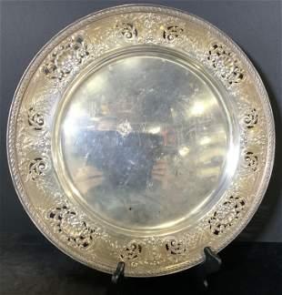 JE CALDWELL&CO Sterling Silver Nouveau Platter