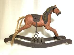 Antique Folk Art Rocking Horse