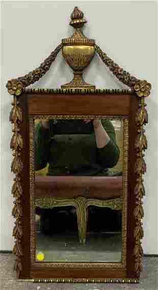 Antique Gilt Wood Wall Mirror