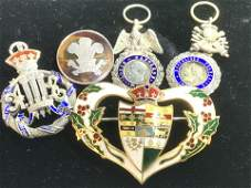Silver Antique French/English Royal Honor Medals