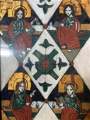 Reverse Painting of Apostles Artwork