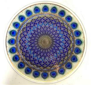 Hand Painted Micro Beaded Platter