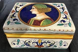 DERUTA Porcelain Lidded Box, Italy