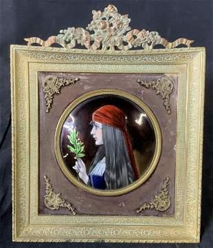 Enamel Painting on Copper, Portrait