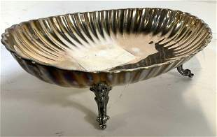 Antique REED&BARTON Silver Pl Footed Serving Dish