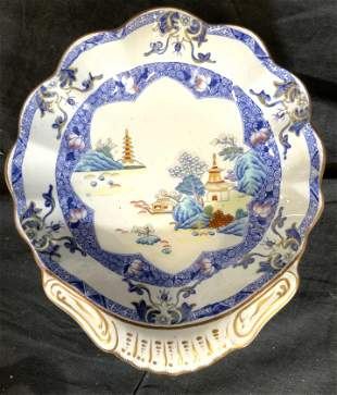 COPELAND AND GARETT Porcelain Transferware Server