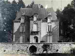 Black & White Photograph of Estate House