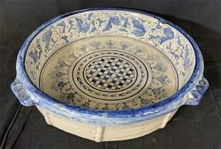 Oversized Vintage Ceramic Dish Vessel Bowl