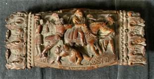 Lot 3 Antique Hand Carved Wooden Trinket Boxes