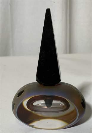 Vintage Signed Art Glass Perfume Bottle 1992