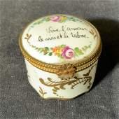 LIMOGES france Signed Hand Painted Porcelain Box