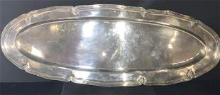 CHRISTOFLE Sign GRAND Silver Plate Serving Platter