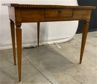 Antique Inlaid Wooden Tilt Top Game Table