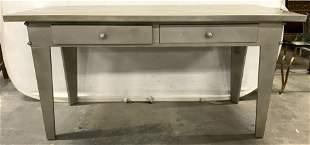Vintage Industrial Metal Table W Drawers C 1940's