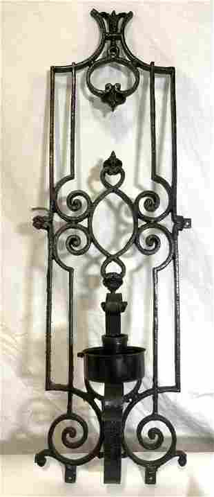 Vintage Wrought Iron Wall Sconce