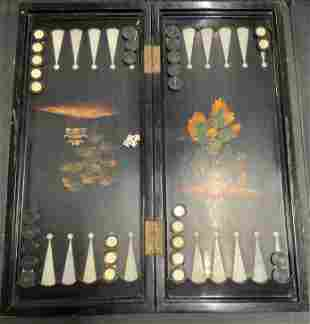 Vintage Backgammon Board & Accessories