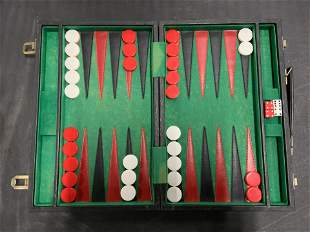 Vintage Leather Backgammon Board