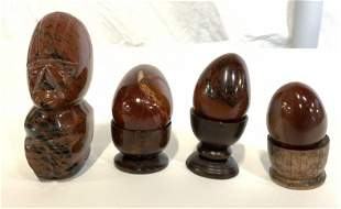 Lot 4 Polished Stone Accessories