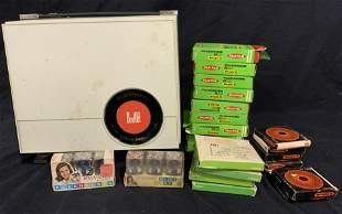 Vintage DEJUR Projector & Film Reels