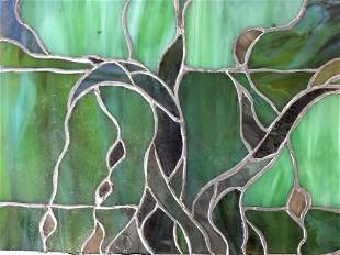 Vintage Stained Glass Panel Window Pane