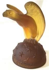 Bicentennial Amber Art Glass Eagle Figural