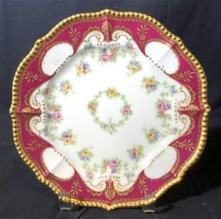 Set 4 LIMOGES FRANCE Porcelain Plates