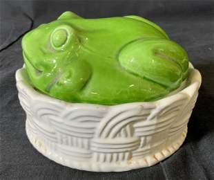 Frog Shaped Trinket Box, Italy
