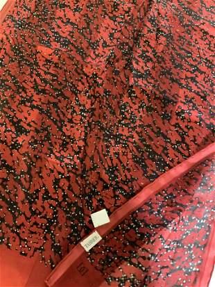 Lot 2 TANNER, ELAINE GOLD Silk Fashion Scarves