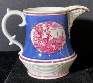 BUCK & DEER Ceramic Vintage Water Pitcher
