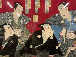 TOYOHARA KUNICHIKA Samurai Woodblock Artwork