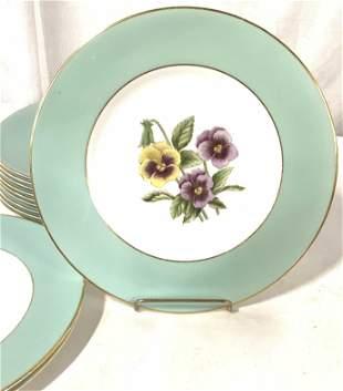 Set 12 ROYAL WORCESTER Porcelain Dinnerware Plates