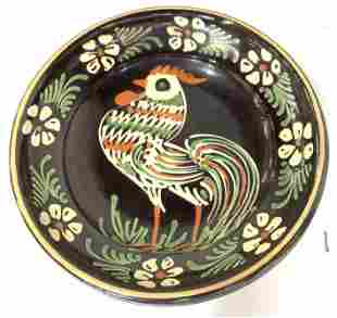 Embossed Chicken Motif Earthenware Plate/ Bowl