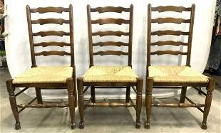Set 6 French Provincial Ladder Back Dining Chairs