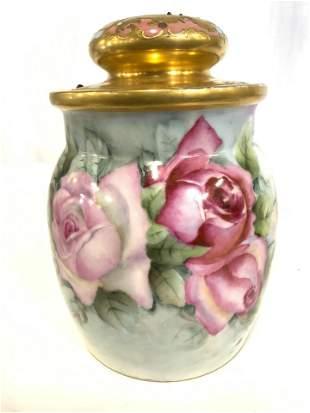 Vintage AKD FRANCE Porcelain Jar W Lid