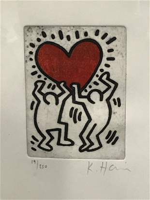 Keith Haring Signed Ltd Ed Lithograph