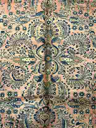 Antique Persian Room Size Handmade Wool Rug