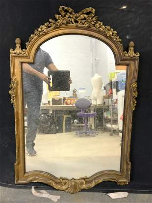 Antique Carved Ornate Gold Leaf Wall Mirror