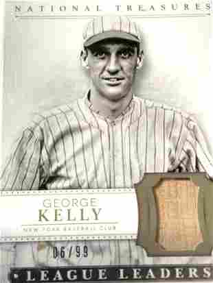 GEORGE KELLY National Treasures Panini No 22