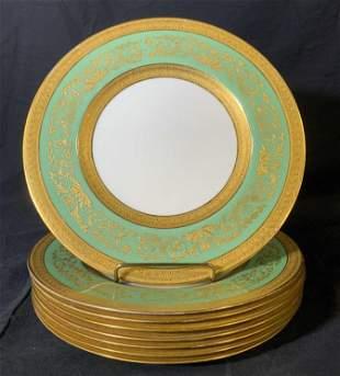 Set 8 Vintage ROYAL WORCESTER Porcelain Plates