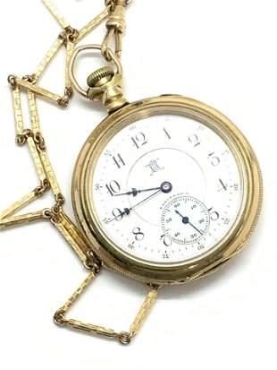 Antique Hallmarked 12K & 14K Gold Filled FOB Watch