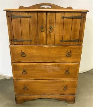 Vintage Hand Crafted Wooden Dresser Chest