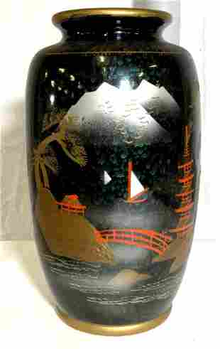 Japanese Hand Painted Porcelain Vase