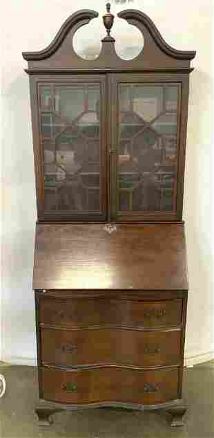Antique Chippendale Style Secretary Desk
